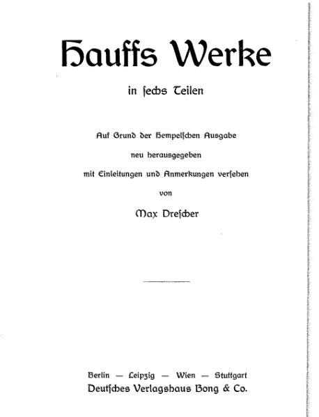 File:Hauff Werke Band 6 hrsg Drescher.djvu