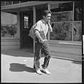Hayward, California. Youth on Relief. High School Student Carrying Home Surplus Commodities for His Family on Relief (3904009566).jpg