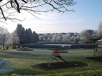 Brynmawr - Heavy frost at the park, December 2008