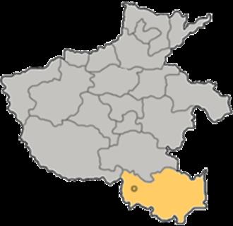Xinyang - Image: Henan Xinyang map a