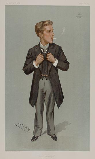 Henry Percy, Earl Percy - Earl Percy as caricatured by Spy (Leslie Ward) in Vanity Fair, September 1897