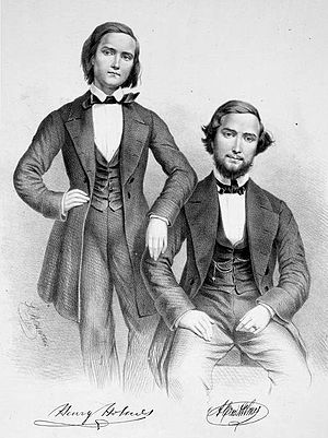 Henry Holmes (composer) - Henry Holmes (left) and his brother Alfred