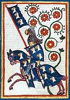 Heraldic knight Hermann von Aue. 14th century.jpg