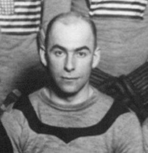 Herb Drury - Herb Drury with the 1920 USA Men's Olympic ice hockey team