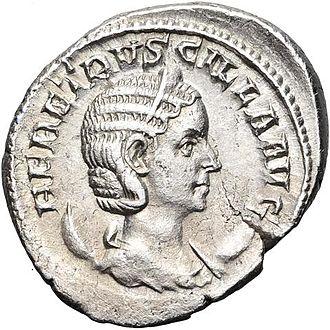 Herennia Etruscilla - Antoninianus of Herennia Etruscilla.