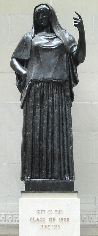 Hestia - Statue of Hestia; Wellesley College, Massachusetts, USA
