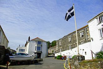 Cornish nationalism - The Cornish flag, the banner of Cornwall's patron saint Saint Piran, has become a symbol of Cornwall and is flown throughout the county.