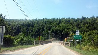 Arkansas Highway 66 - Highway 66 ends at Highway 65 in Leslie