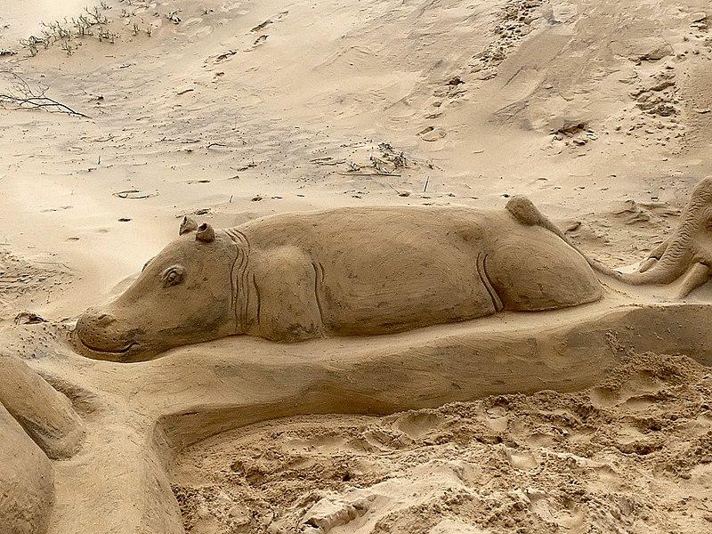 K Lite Hippo File File:Hippo sand sculpt...