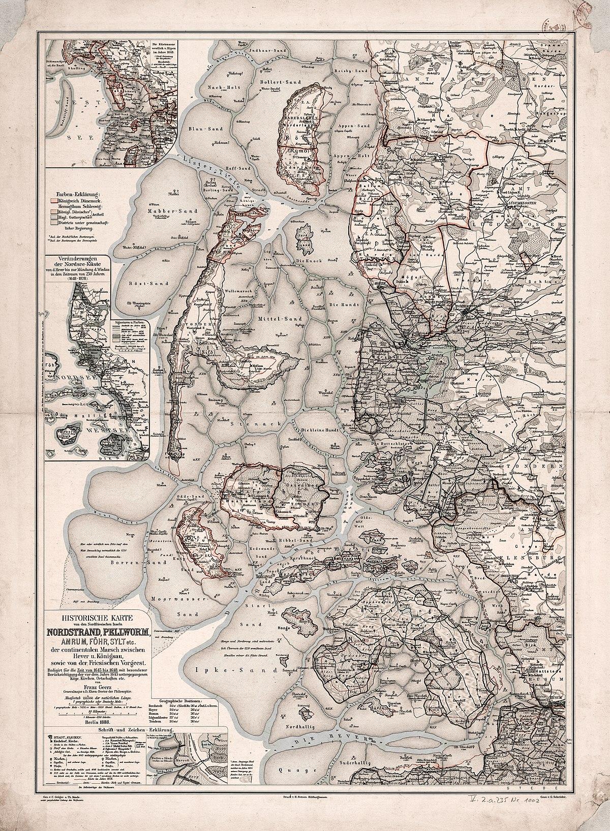 Pellworm Karte.Datei Historische Karte Von Den Nordfriesischen Inseln