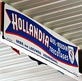 Hollandia, wol-kousen & tricotages, Emaille reclamebord.JPG