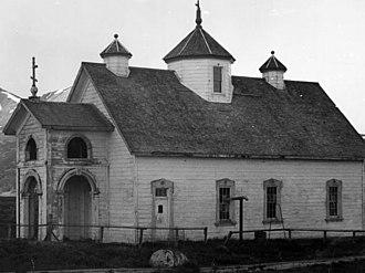 National Register of Historic Places listings in Aleutians East Borough, Alaska - Image: Holy Resurrection Russian Orthodox Church, Belkofski, Alaska