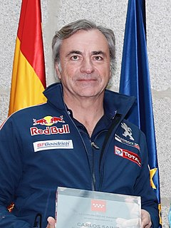 Carlos Sainz Spanish racecar driver