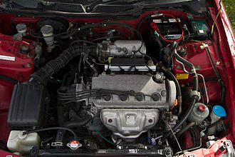Honda D engine - A Honda D engine in a Honda Integra