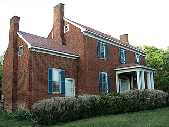 Beaver Creek Plantation - Hordsville, built 1836 by George Hairston, Henry County, Virginia