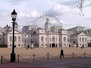 Horse Guards Parade, with the London Eye obser...
