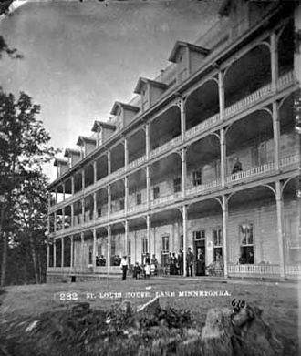 Deephaven, Minnesota - The Hotel St. Louis, photograph from c. 1885, was an escape for residents of the Twin Cities.