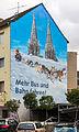 Hotel Ehrenfelder Zeitgeist mit Wandgemälde Mehr Bus und Bahn fahren-4708.jpg