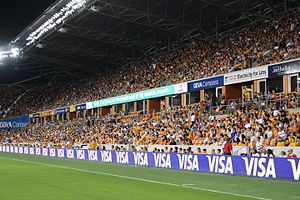 BBVA Compass Stadium - Houston Dynamo fans at the BBVA Compass Stadium in 2015