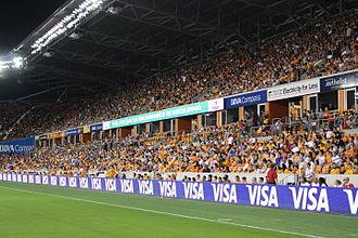 BBVA Compass Stadium - Houston Dynamo fans at the BBVA Compass Stadium in 2015