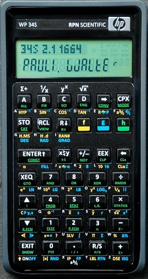 HP 20b - HP 20b with overlay for WP 34s