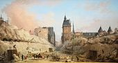 Hubert Robert - The Demolition of Houses on the Pont au Change - BStGS inv. no. HUW 15.jpg