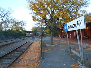Hudson station (New York) - The platforms at Hudson Station