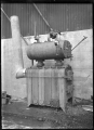 Hutt Railway Workshops at Woburn. Interior view with new heating apparatus, 1929. ATLIB 290065.png