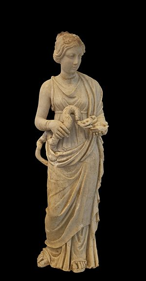Small statue of Hygieia. Mid-2nd century C.E. ...