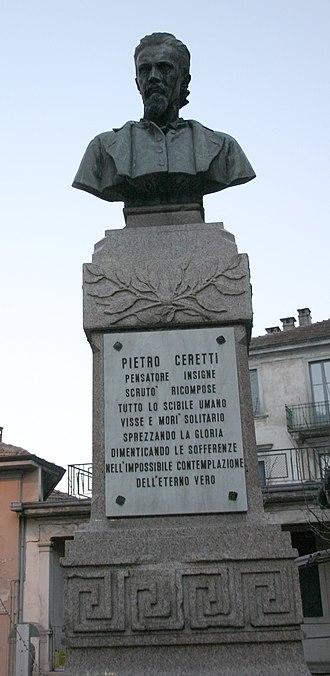 Luigi Secchi - Image: IMG 5068 Intra Monumento a Pietro Ceretti (1823 1884) Foto Giovanni Dall'Orto 3 febr 2007
