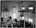 INTERIOR-VIEW FROM NORTH GALLERY - Woodbine Brotherhood Synagogue, 612 Washington Avenue, Woodbine, Cape May County, NJ HABS NJ,5-WOBI,1-6.tif