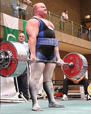 Powerlifting - The deadlift being performed by 2009 IPF World Champion Dean Bowring