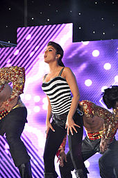 Priyanka Chopra dancing on stage