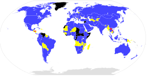 Map of members of ISO