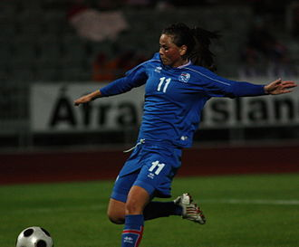 Icelandic Footballer of the Year - Sara Björk Gunnarsdóttir, pictured here in 2009, is also a five-time winner of the women's award.
