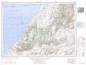 Ifni - Map sheet showing boundary of the former Ifni Province.