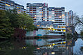 Ihme-Zentrum apartment complex Ihme river Linden-Mitte Hannover Germany 02.jpg