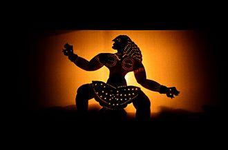 Tholpavakoothu - A  scene from Tholpavakoothu