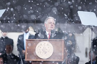 Larry Hogan - Hogan at his inauguration in January 2015