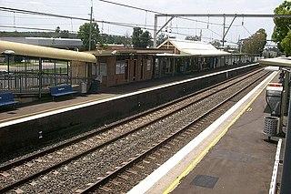 Ingleburn railway station railway station in Sydney, New South Wales, Australia
