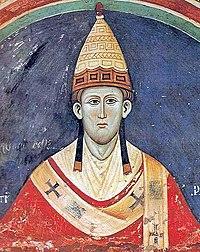 Inocenc III., freska v klášteře Sacro Speco