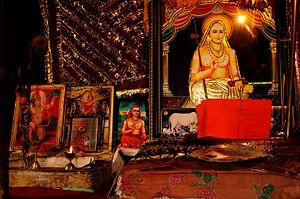 Shankaracharya Temple - The memorial to the Adi Shankaracharya inside the temple