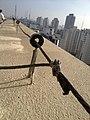 Instalación captadora de Rayo edificio en Sao Pablo Brasil.jpg
