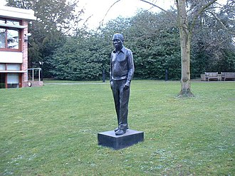 Fred Hoyle - A statue of Fred Hoyle at the Institute of Astronomy, Cambridge