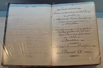 "Pierre Lambert de la Motte - The 1665 ""Instructions to Missionaries"", based on the instructions of Pope Clement IX, written by François Pallu and Pierre Lambert de la Motte."