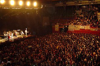 Rock concert - Inside view of Ruca Che arena in Neuquén, Argentina, during a rock concert.