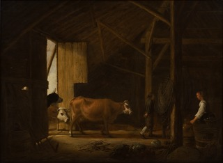 Interior of a Cowshed