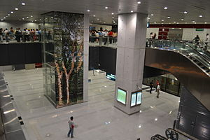 Buona Vista MRT Station - Interior of the Circle Line Buona Vista MRT station.