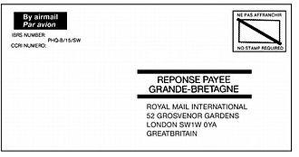 Freepost - Image: International Business Reply Service