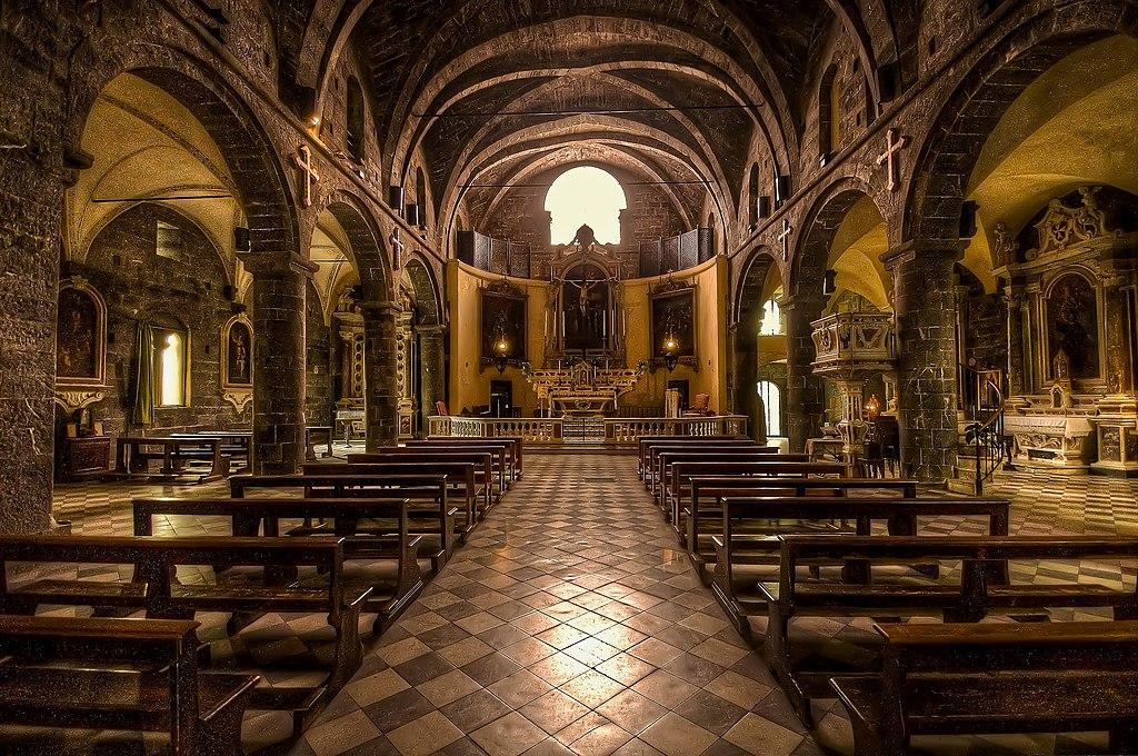 A l'intérieur de l'église de la Commenda di San Giovanni di Pré - Photo de Maurizio Beatrici